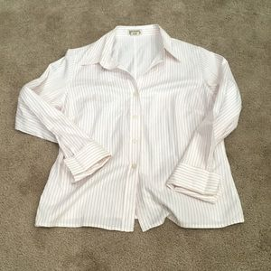 Michael Kors collared cuffed pinstripe button up